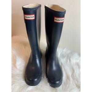 Hunter navy rain boots size 7